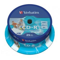 CD VERBATIM  25 UNDS 52X 700MBPRINTABLE