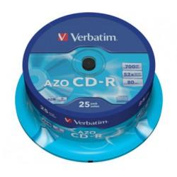 CD VERBATIM  25 UNDS 52X 700MB  -R
