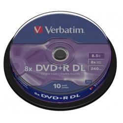 DVD VERBATIM 10 UNDS  8X 8.5GB +R DL (DOBLE CAPA)