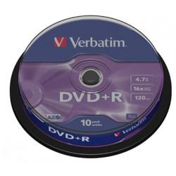 DVD VERBATIM 10 UNDS 16X 4.7GB +R