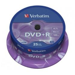 DVD VERBATIM 25 UNDS 16X 4.7GB +R