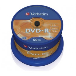 DVD VERBATIM 50 UNDS 16X 4.7GB -R