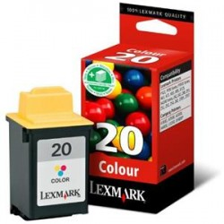 Cartucho tinta original Lexmark 20 Inkjet Color