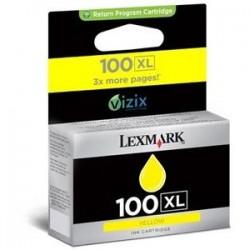 Cartucho tinta original Lexmark 100XL Inkjet Amarillo
