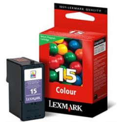 Cartucho tinta original Lexmark 15 Inkjet Color