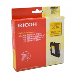 Cartucho Gel original Ricoh GC21 Amarillo