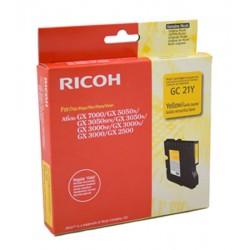 Cartucho Gel original Ricoh GC21 Amarillo