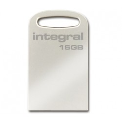 MEMORIA USB 3.0  16GB INTEGRALMINI PLATA